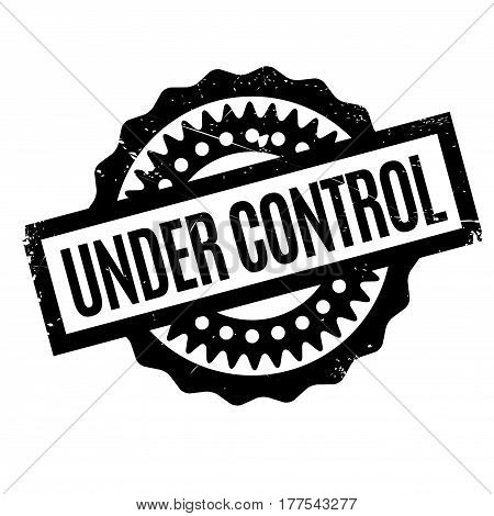 Under Control rubber stamp. Grunge design with dust scratches. Effects can be easily removed for a clean, crisp look. Color is easily changed.