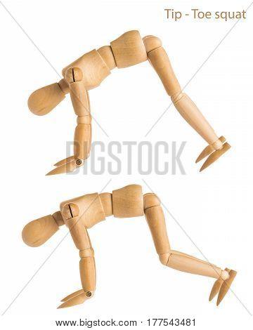 Tip Toe Squat Pose