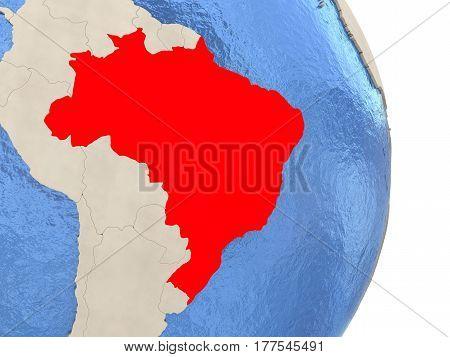 Brazil On Model Of Political Globe
