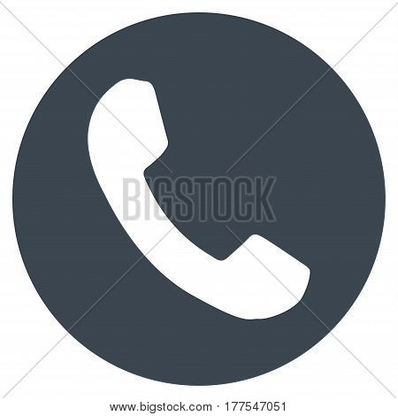 Phone Number vector icon. Flat smooth blue symbol. Pictogram is isolated on a white background. Designed for web and software interfaces.