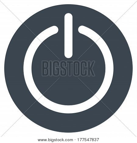 Turn Off Power vector icon. Flat smooth blue symbol. Pictogram is isolated on a white background. Designed for web and software interfaces.
