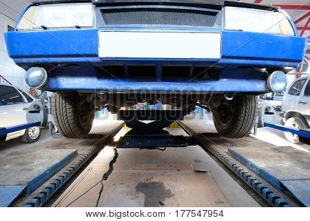 equipment of wheel alignment angle control