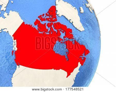 Canada On Model Of Political Globe
