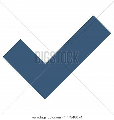 Yes Tick vector icon. Flat blue symbol. Pictogram is isolated on a white background. Designed for web and software interfaces.