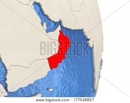 Oman On Model Of Political Globe
