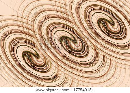 Illustration : fractal lines form three parallel spiral - like
