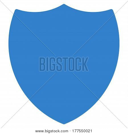 Shield vector icon. Flat cobalt symbol. Pictogram is isolated on a white background. Designed for web and software interfaces.