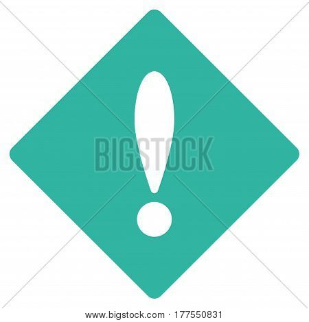 Error vector icon. Flat cyan symbol. Pictogram is isolated on a white background. Designed for web and software interfaces.