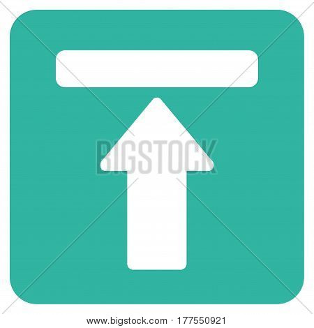 Expand Menu vector icon. Flat cyan symbol. Pictogram is isolated on a white background. Designed for web and software interfaces.