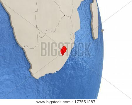 Lesotho On Model Of Political Globe