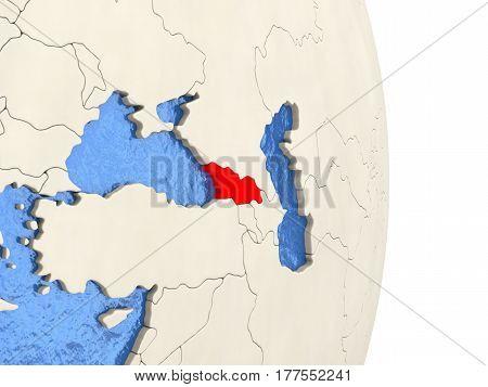 Georgia On Model Of Political Globe