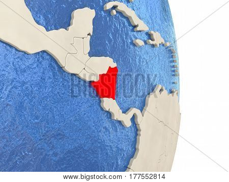 Nicaragua On Model Of Political Globe