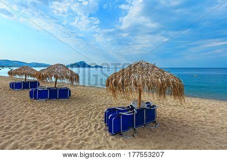 Summer Morning Beach (chalkidiki, Greece).
