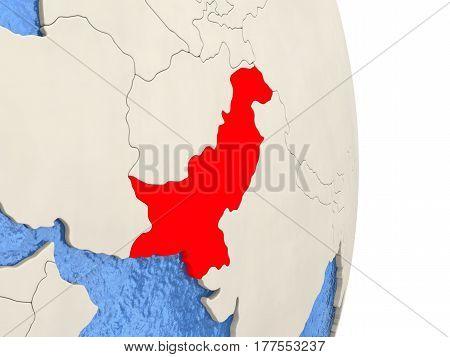 Pakistan On Model Of Political Globe