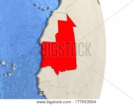Mauritania On Model Of Political Globe
