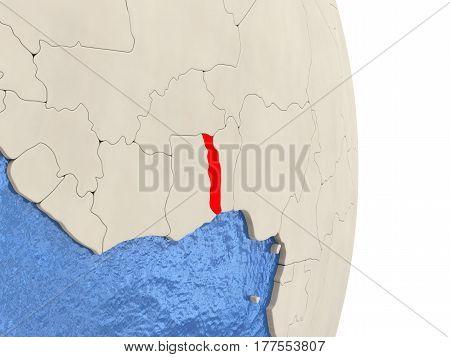 Togo On Model Of Political Globe