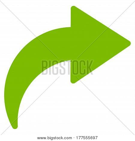 Redo vector icon. Flat eco green symbol. Pictogram is isolated on a white background. Designed for web and software interfaces.