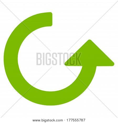 Rotate vector icon. Flat eco green symbol. Pictogram is isolated on a white background. Designed for web and software interfaces.