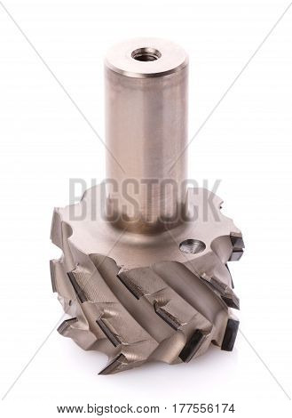 milling cutter for wood processing isolated on white background