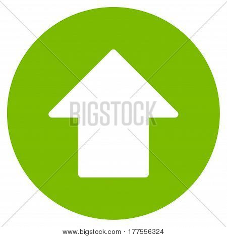 Up Arrow vector icon. Flat eco green symbol. Pictogram is isolated on a white background. Designed for web and software interfaces.