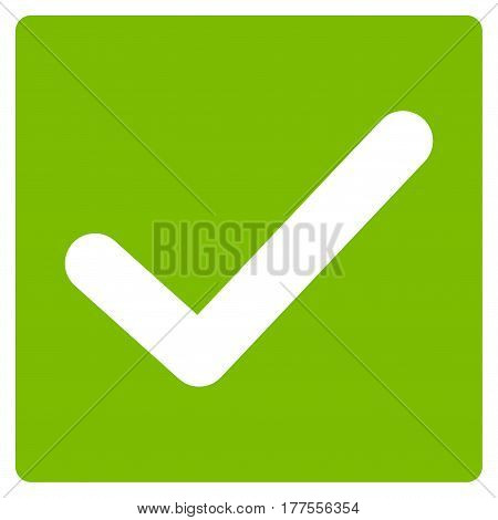 Valid Tick vector icon. Flat eco green symbol. Pictogram is isolated on a white background. Designed for web and software interfaces.