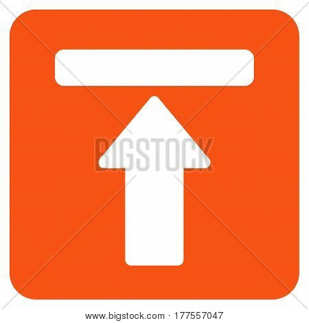 Expand Menu vector icon. Flat orange symbol. Pictogram is isolated on a white background. Designed for web and software interfaces.