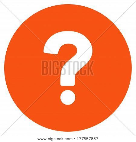 Query vector icon. Flat orange symbol. Pictogram is isolated on a white background. Designed for web and software interfaces.