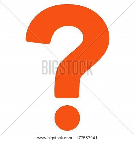Question vector icon. Flat orange symbol. Pictogram is isolated on a white background. Designed for web and software interfaces.