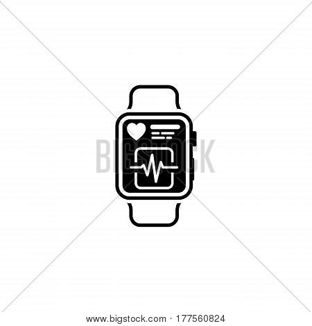 Fitness App Icon. Flat Design Isolated watch with app