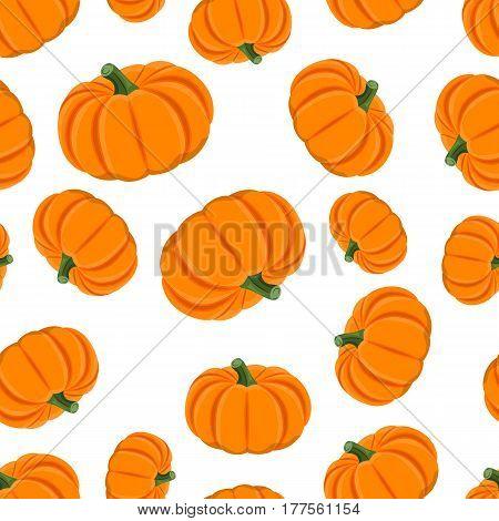 Pumpkin seamless pattern on whie background eps 10