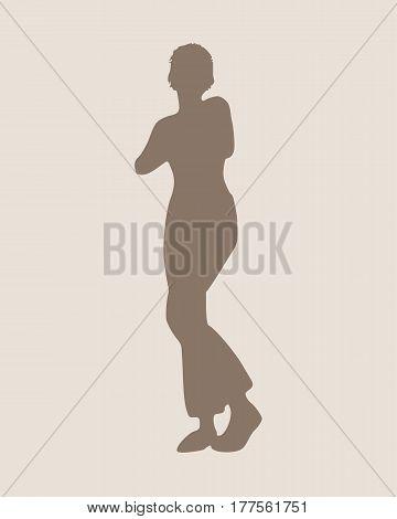 Sexy women silhouette. Fashion mannequin. Vector Illustration