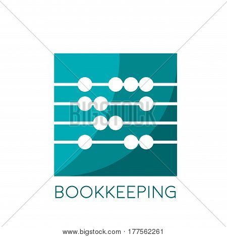 Vector sign abacus bookkeeping concept in square