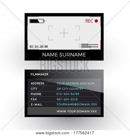 Vector abstract viewfinder camera filmmaker concept. Business card