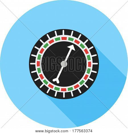 Roulette, wheel, casino icon vector image. Can also be used for casino. Suitable for use on web apps, mobile apps and print media.
