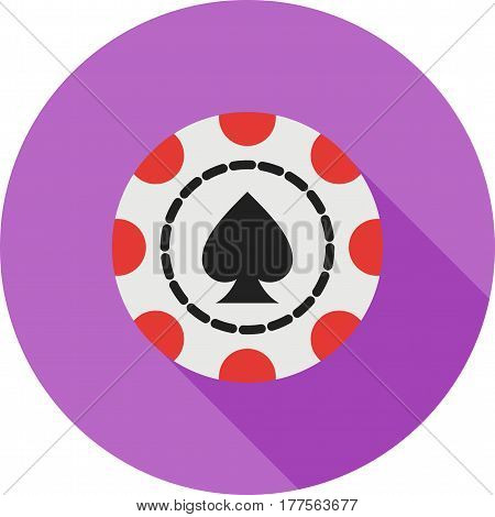 Casino, spade, chip icon vector image. Can also be used for casino. Suitable for use on web apps, mobile apps and print media.