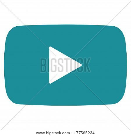 Play Video vector icon. Flat soft blue symbol. Pictogram is isolated on a white background. Designed for web and software interfaces.