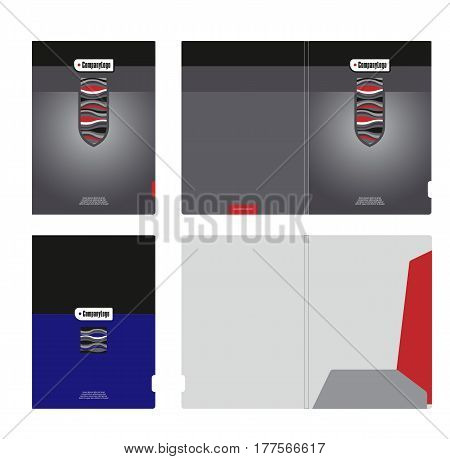 Ideas of corporate identity, template for the design of the cover and cutting