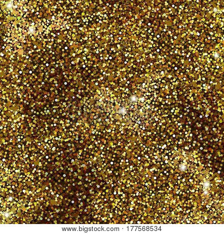 Vector golden foil background template for cards, hand drawn backdrop - invitations, posters, cards. illustration