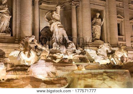 Trevi Fountain Detail