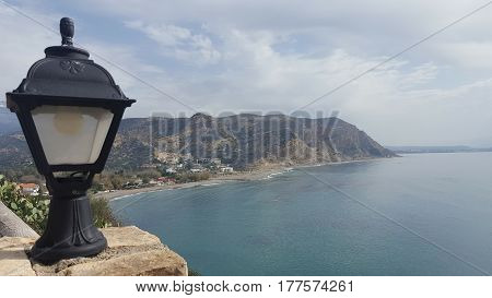 Panorama  view of the cost of crete