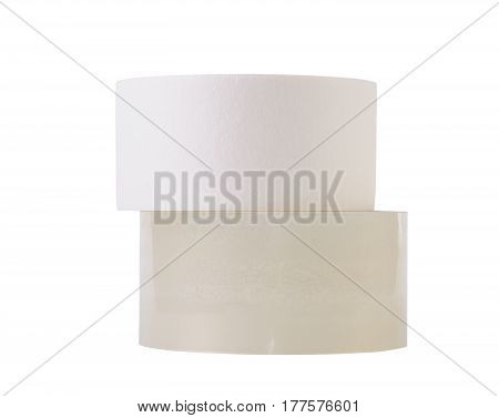 Rolls of tape isolated on white background