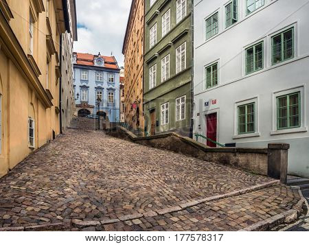 Passage in Prague Castle District, Prague, Czech republic