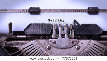 Old Typewriter - Germany