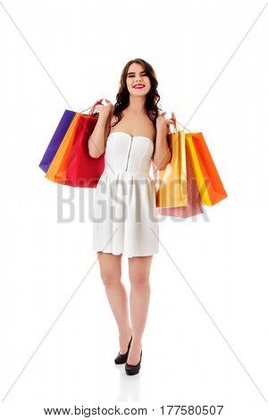 Beautiful woman with a shopping bags