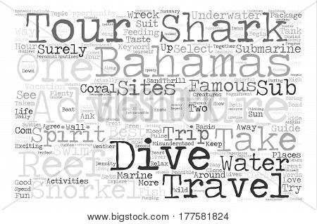 adventure in bahamas travel and tours text background word cloud concept
