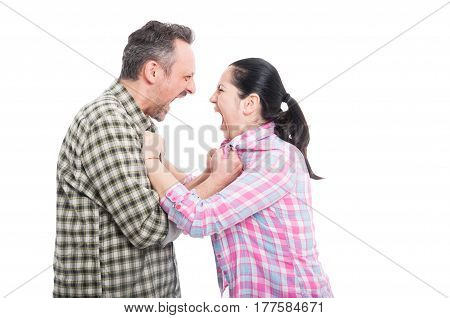 Couple Having A Screaming Fight
