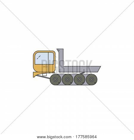 Truck Dumper Line Vector Icon