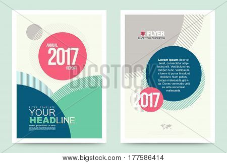 Vector cover design template simply and elegant style Can use for flyer brochure annual report magazine book poster printing press and web presentation. Front and back layout A4 size.