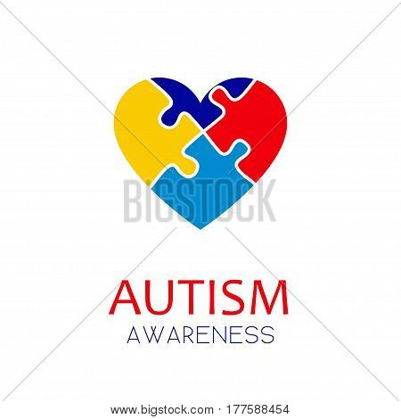 Autism Awareness Puzzle Elements Concept