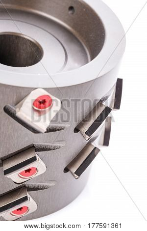 professional tools for woodworking. milling cutter isolated